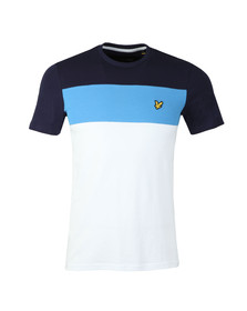 Lyle and Scott Mens White S/S Block Stripe Tee