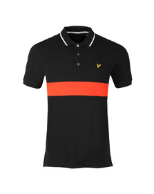 Lyle and Scott Mens Black S/S Block Polo