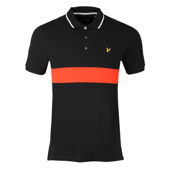 Lyle and Scott Mens Black S/S Block Polo main image