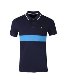 Lyle and Scott Mens Blue S/S Block Polo