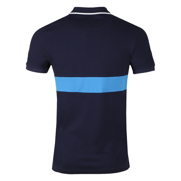 Lyle and Scott Mens Blue S/S Block Polo main image