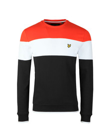 Lyle and Scott Mens Black Block Stripe Sweat