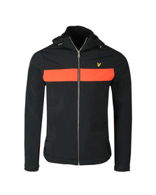 Lyle and Scott Mens Black Hooded Soft Shell Jacket