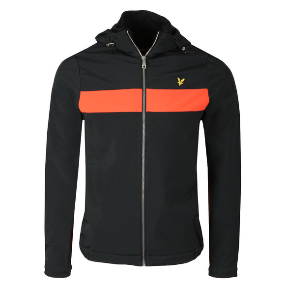 Lyle and Scott Mens Black Hooded Soft Shell Jacket main image