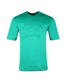 Paul & Shark Mens Green Large Logo T Shirt