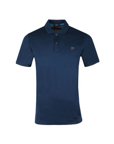Paul & Shark Mens Blue Plain Polo Shirt
