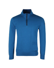 Paul & Shark Mens Blue Cotton Half Zip Jumper