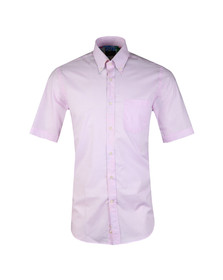 Paul & Shark Mens Pink Gingham Short Sleeve Shirt