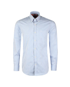 Paul & Shark Mens Blue Fine Stripe Shirt