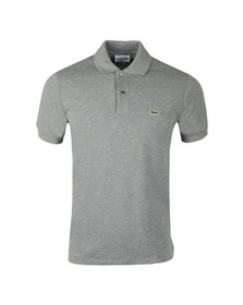 Lacoste Mens Grey Lacoste L1264 Plain Polo