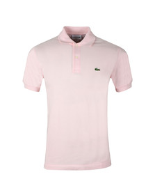 Lacoste Mens Pink Plain Polo Shirt