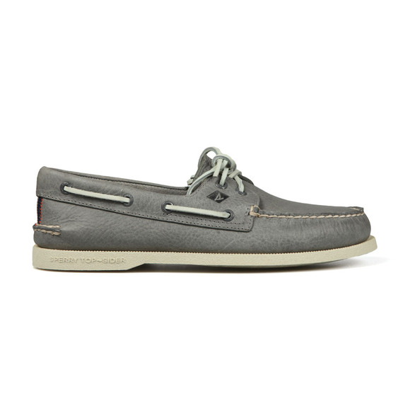 Sperry Mens Grey Authentic Original Boat Shoe main image