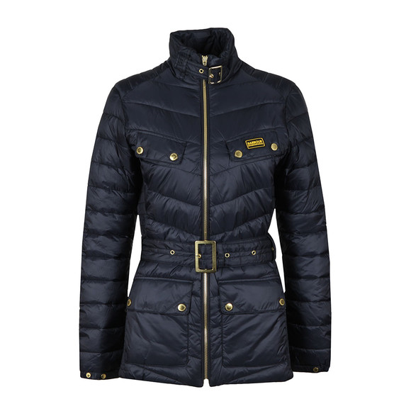 Barbour International Womens Blue Gleann Quilted Jacket main image