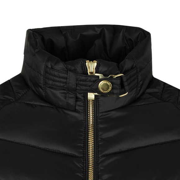 Barbour International Womens Black Triple Quilted Jacket main image