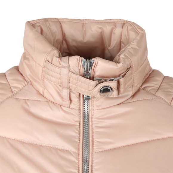 Barbour International Womens Pink Triple Quilted Jacket main image