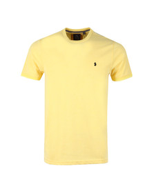 Luke Mens Yellow S/S Lenny Badge Tee
