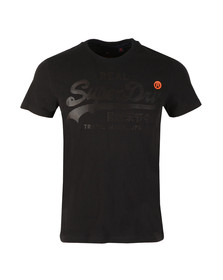 Superdry Mens Half Time Black S/S Real Logo 1st Tee
