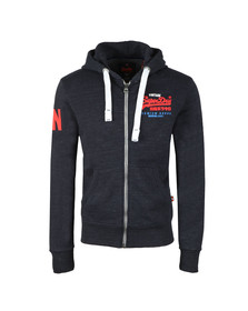 Superdry Mens Bass Blue Grindle Premium Goods Ziphood
