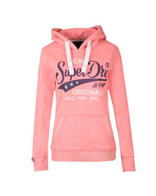 Superdry Womens Pink Real Originals Entry Hoody