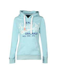 Superdry Womens Blue Real Originals Entry Hoody