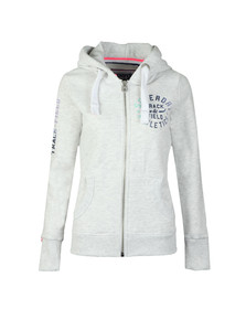 Superdry Womens Grey Track & Field Zip Hoody