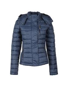 Superdry Womens Blue Fuji Slim Double Zip Hooded Jacket
