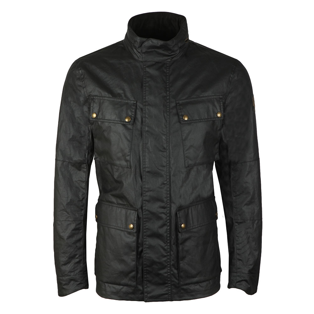 80935d6aa0f9 Belstaff Mens Black Explorer Wax Jacket