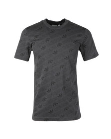 Adidas Originals Mens Grey S/S Aop Tee