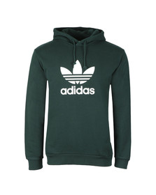 Adidas Originals Mens Green Trefoil Hoodie