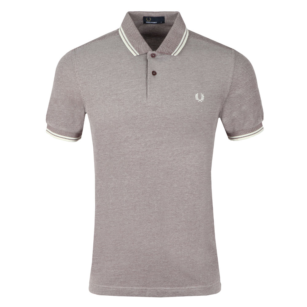 0ba37392c Fred Perry Mens Red Twin Tipped Polo Shirt