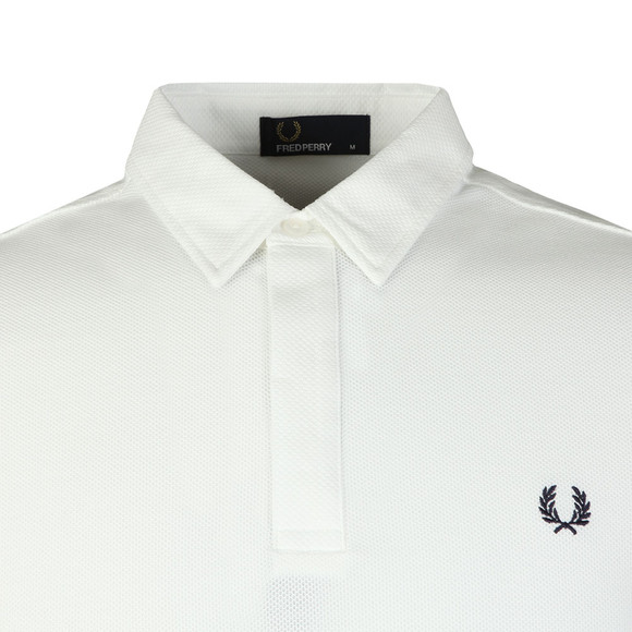 Fred Perry Mens White Textued Collar Polo main image