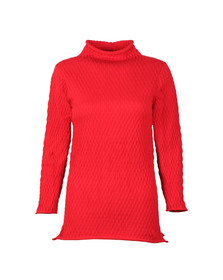 French Connection Womens Red Molly Mozart High Neck Jumper