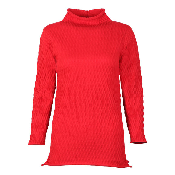 French Connection Womens Red Molly Mozart High Neck Jumper main image