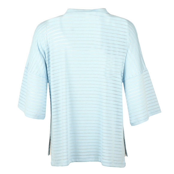 French Connection Womens Blue Beka Rib Jersey High Neck Top main image
