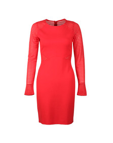 French Connection Womens Red Thiestis Jersey Bodycon Dress