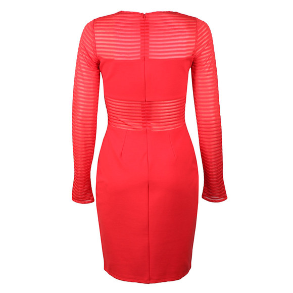 French Connection Womens Red Thiestis Jersey Bodycon Dress main image