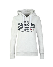 Superdry Womens Grey Vintage Logo Foil Pop Entry Hoody