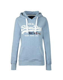 Superdry Womens Blue Vintage Logo Foil Pop Entry Hoody