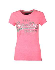 Superdry Womens Pink Vintage Logo Embossed Foil Tee