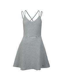 Superdry Womens Blue Textured Skater Cami Dress