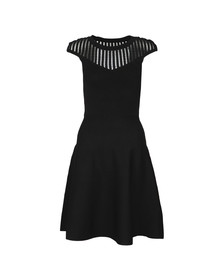 French Connection Womens Black Rose Crepe Knits Capped Sleeve Dress