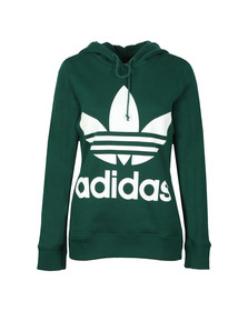 adidas Originals Womens Green Trefoil Logo Hoody