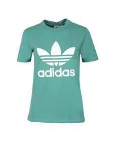 Adidas Originals Womens Green Trefoil Tee