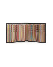 Paul Smith Mens Black Signature Stripe Interior Billfold Wallet