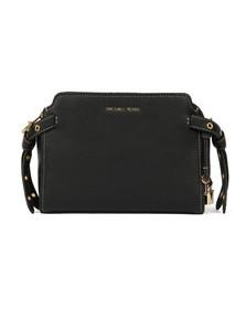 Michael Kors Womens Black Bristol Mid Messenger Bag