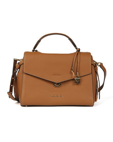 Michael Kors Womens Brown Bristol Mid Satchel
