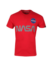 Alpha Industries Mens Red NASA Reflective T Shirt