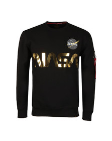 Alpha Industries Mens Black NASA Reflective Sweat