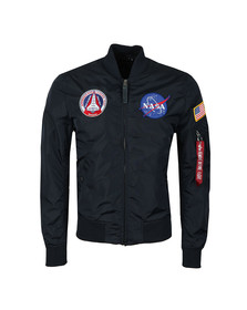 Alpha Industries Mens Blue MA-1 NASA Reversible Bomber