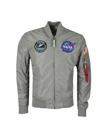 Alpha Industries Mens Silver MA-1 NASA Reversible Bomber